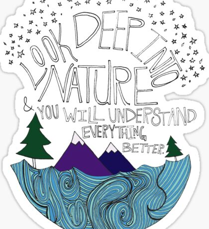 Einstein: Nature Sticker