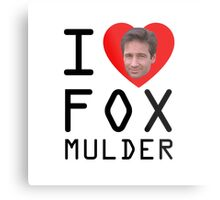 I Heart Fox Mulder Metal Print