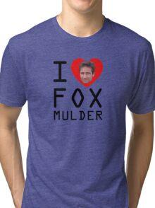 I Heart Fox Mulder Tri-blend T-Shirt