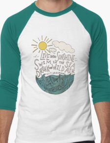 Emerson: Live in the Sunshine Men's Baseball ¾ T-Shirt
