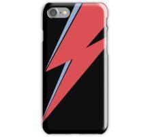 Ziggy Stardust - Lightning - On Black Star  iPhone Case/Skin