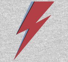 Ziggy Stardust - Lightning - On Black Star  Kids Tee