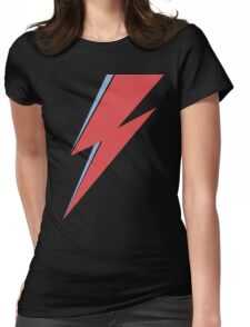 Ziggy Stardust - Lightning - On Black Star  Womens Fitted T-Shirt