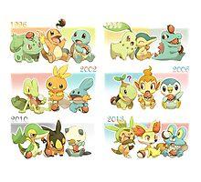 Pokemon - All Starters Photographic Print