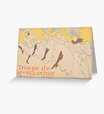 Vintage poster - Troupe de Mlle Eglantine Greeting Card