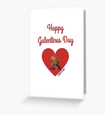 Galentines Day with Leslie: Parks & Recreation Greeting Card