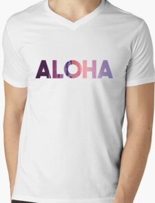 Aloha Mens V-Neck T-Shirt