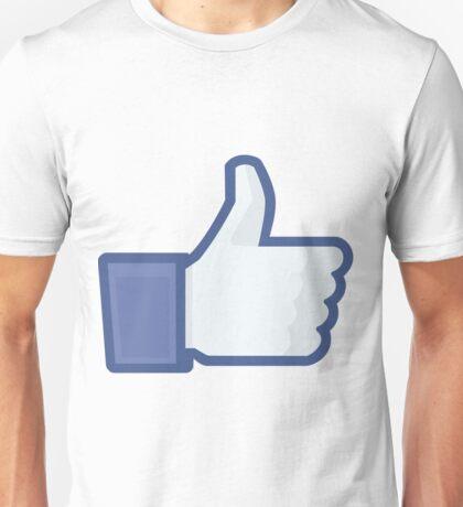 Facebook like button  Unisex T-Shirt