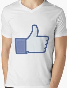 Facebook like button  Mens V-Neck T-Shirt