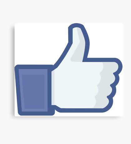 Facebook like button  Canvas Print