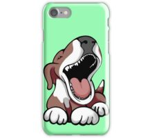 Laughing Bull Terrier White & Brown iPhone Case/Skin