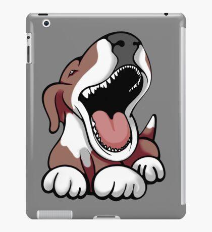Laughing Bull Terrier White & Brown iPad Case/Skin