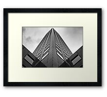 Pillar of Concrete and Glass Framed Print