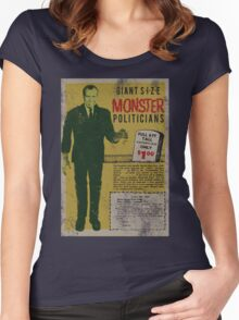 MONSTER PRESIDENTS Women's Fitted Scoop T-Shirt