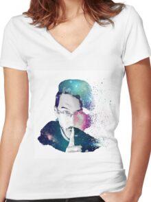 Quiet Galaxies - Markiplier Women's Fitted V-Neck T-Shirt
