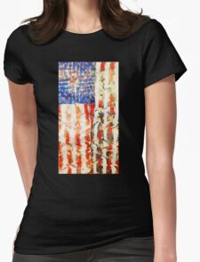 americanflag Womens Fitted T-Shirt