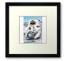 Astro Penguin Framed Print