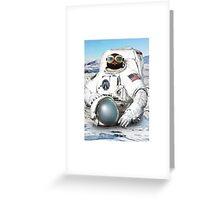 Astro Penguin Greeting Card
