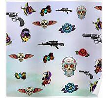 guns and roses  Poster