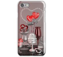 You & Me In Love Red Platinum Valentine Hearts iPhone Case/Skin