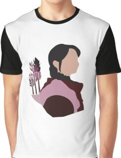 Katniss in Purple Graphic T-Shirt