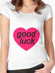 GOOD LUCK Women's Fitted Scoop T-Shirt