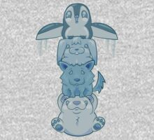 Cute Snow Totem Pole by Bigmom