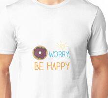 """Donut Worry, Be Happy"" Unisex T-Shirt"