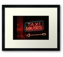 taxis & buses Framed Print