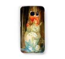 Umbrella Totoro and Pangur Ban Studio Ghibli + Secret of Kells Watercolor Homage Samsung Galaxy Case/Skin