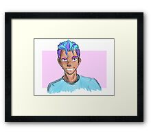 Sketchy Human Sully Framed Print
