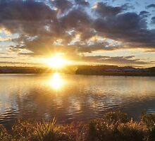 Sunset at Brightwater by Margaret Stevens