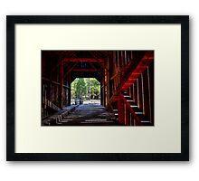 Wawona Covered Bridge in Yosemite National Park Framed Print
