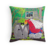 The Parrot Party at Paronella Park [Cover Page] Throw Pillow