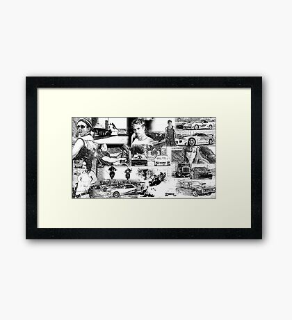 The Fast and the Furious Collage Framed Print