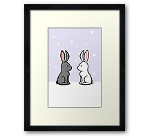 Snow Bunnies Framed Print