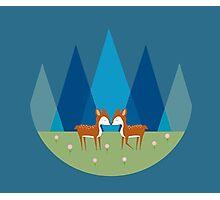 Cute Baby Deer Pattern Photographic Print