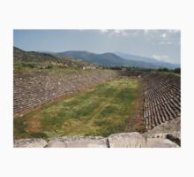 The Aphrodisias Stadium (From the West) One Piece - Long Sleeve
