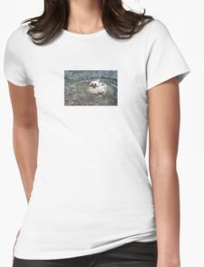 Duck Splashing Water Creating Ripples on Riverbank T-Shirt