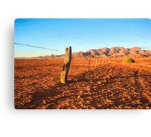 Outback Fence (GO6) Canvas Print