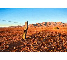 Outback Fence (GO6) Photographic Print