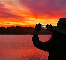 Marlo Sunset East Gippsland Vic. Australia  by helmutk
