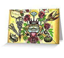 frog prince and scissors, love letters Greeting Card