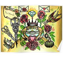 frog prince and scissors, love letters Poster