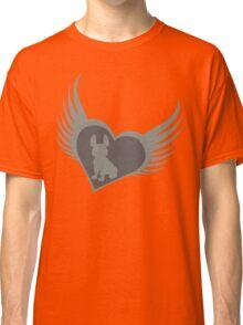 Grey flying heart, French Bulldog design Classic T-Shirt