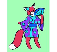 Little Red Fox in a Kimono  Photographic Print