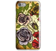 roses, rose tattoo flash sheet iPhone Case/Skin
