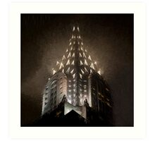 Chrysler Fog Lights (sw) Art Print