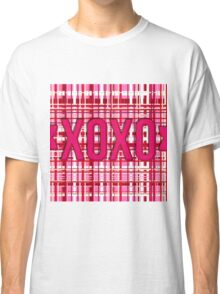 XOXO plaid red/pink Classic T-Shirt