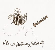Please bee my valentine - sepia by Stevie the floating artist